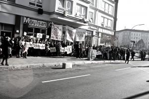 Proteste in der Koloniestraße